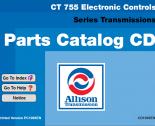 spare parts catalog Allison CLT755 Electronic Controls Series Transmissions Parts Catalog