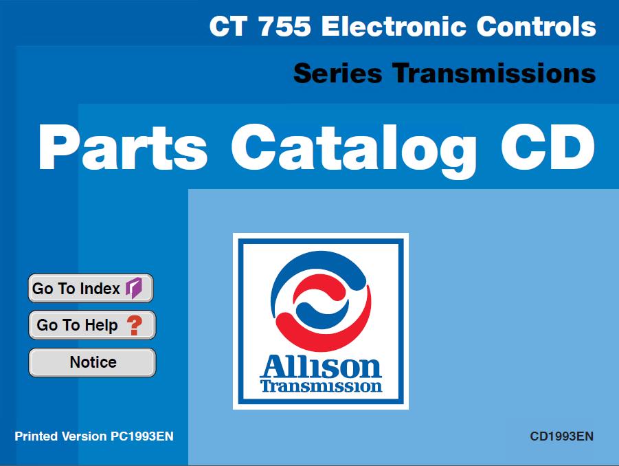 Allison CLT755 Electronic Controls Series Transmissions Parts Catalog