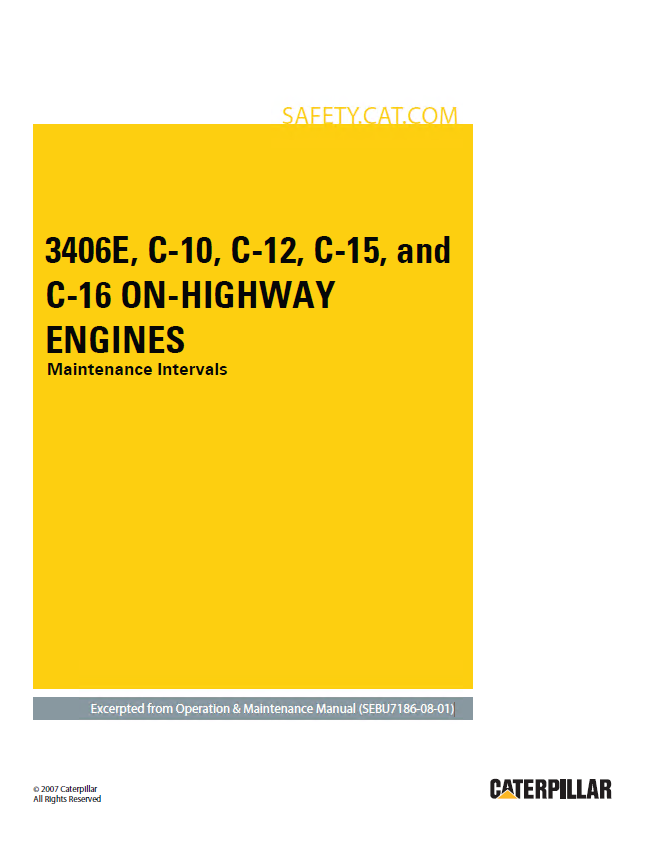 caterpillar 3406e c 10 c 12 c 15 c 16 on highway engines repair manual caterpillar 3406e c 10 c 12 c 15