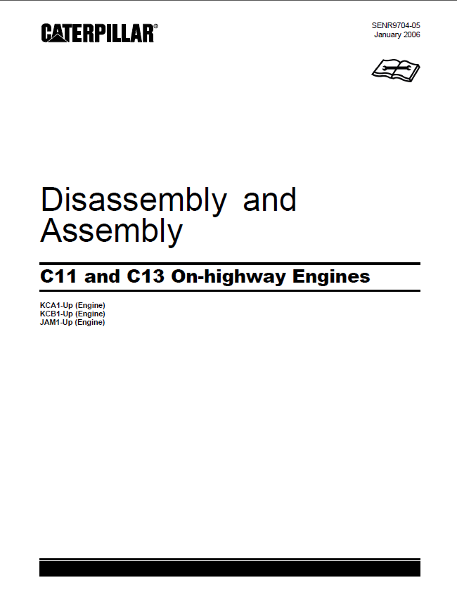 caterpillar c11 c13 on highway engines disassembly assembly manual pdf rh epcatalogs com cat c13 engine service manual Cat C13 Engine Diagram