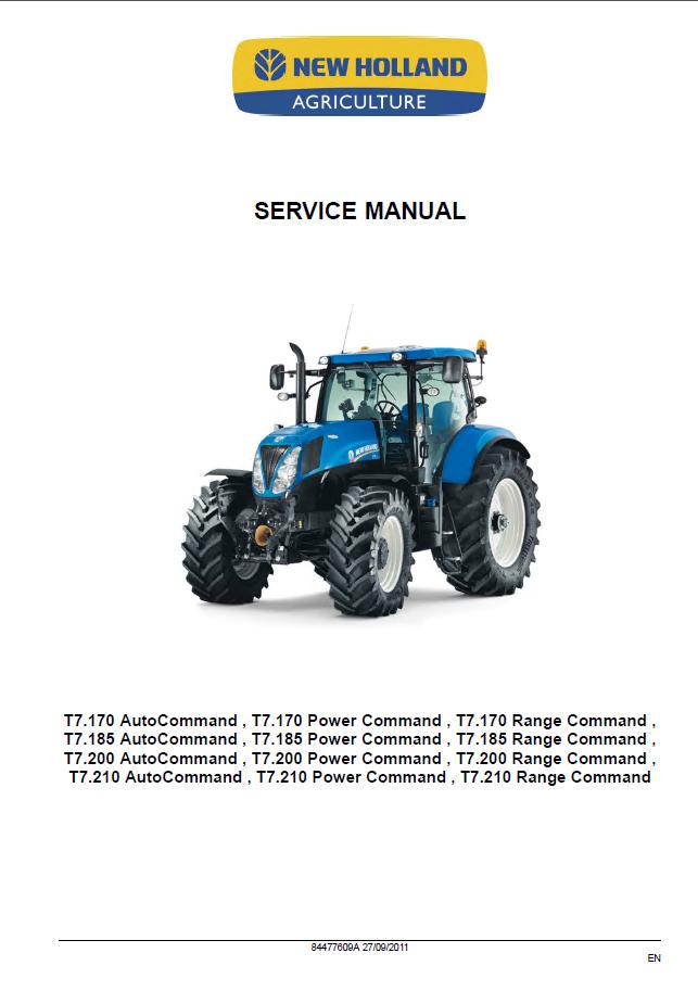 Repair Manuals For Tractors : New holland t series tractors service manual pdf