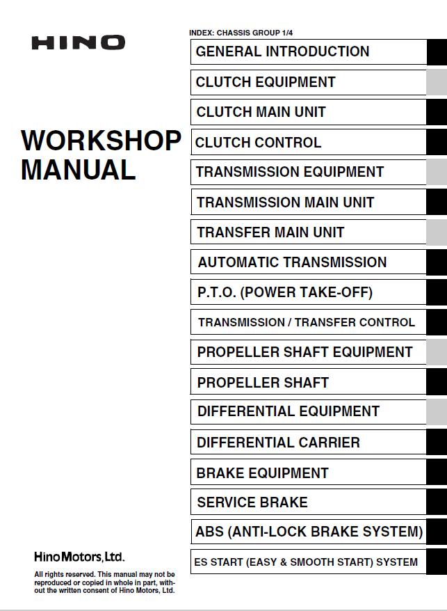 hino fd1j gd1j fg1j fl1j fm1j engine workshop pdf rh epcatalogs com Pontiac Shop Manual 2007 Ford Workshop Manuals