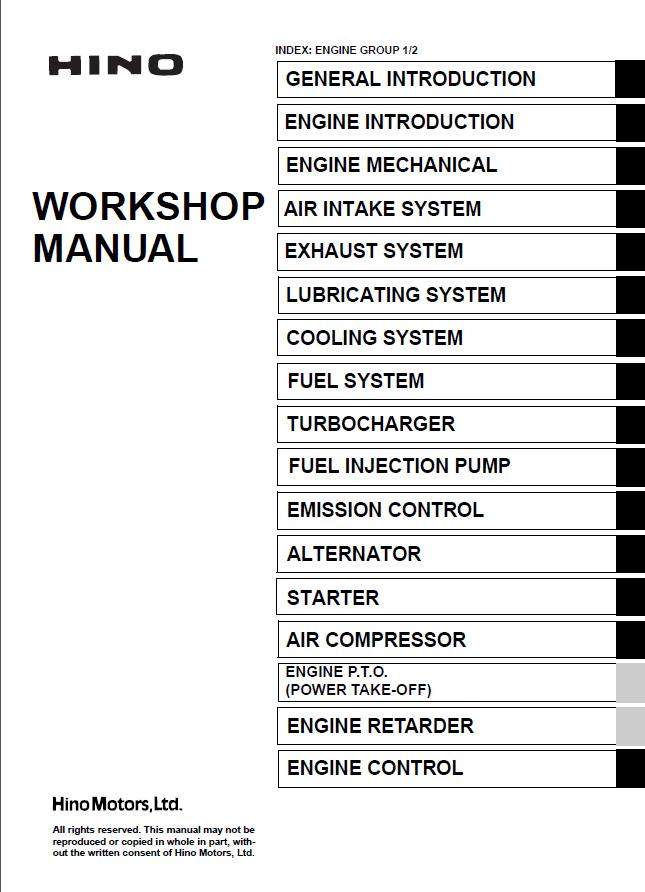hino j05d ti j05e ti engines workshop manual pdf rh epcatalogs com Pontiac Shop Manual 2007 Professional Workshop Manuals