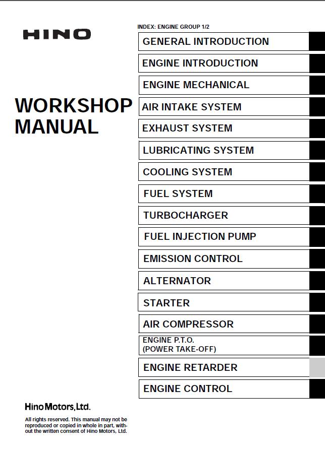 Hino J08e Ti Engine Workshop Manual Pdf