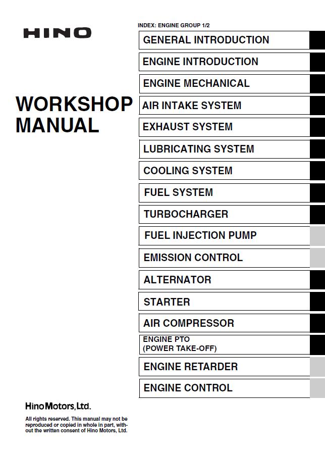 Hino J08cti Engine Workshop Manual Pdfrhepcatalogs: Hino Engine Diagrams At Gmaili.net