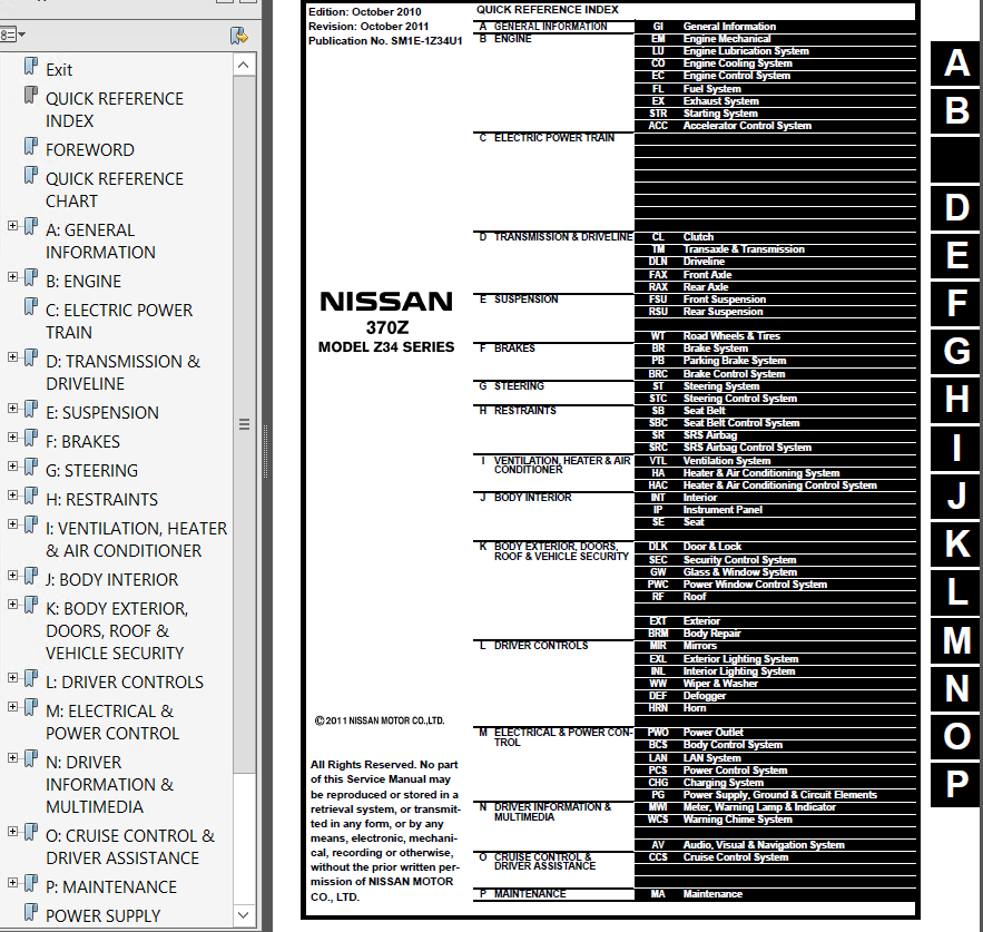 nissan 370z model z34 series 2011 service manual pdf rh epcatalogs com