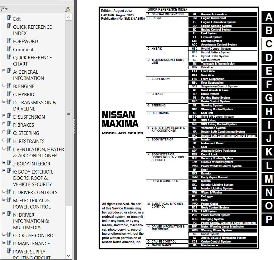nissan maxima model a35 series 2013 service manual pdf rh epcatalogs com 2002 Nissan Maxima Black Future Nissan Maxima