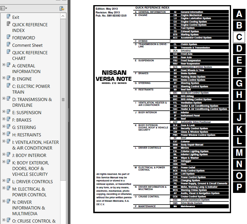 nissan versa note model e12 versa model n17 2014 pdf rh epcatalogs com nissan versa service manual pdf 2007 nissan versa repair manual