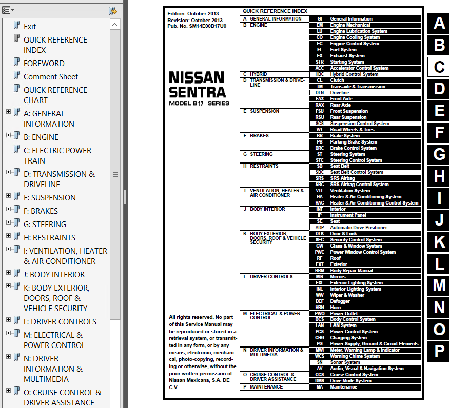2013 Nissan Sentra Owners Manual >> Nissan Sentra Model B17 Series 2014 Service Manual Pdf