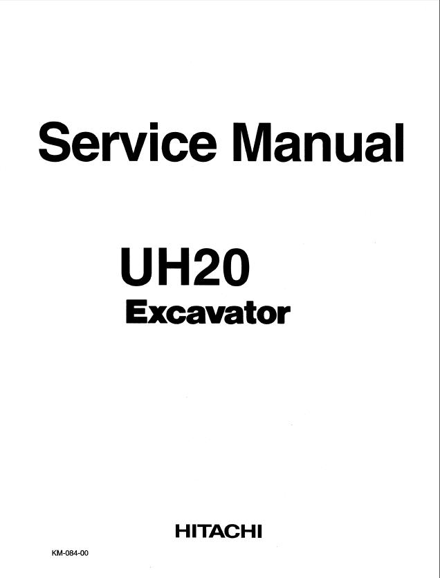 Hitachi Uh20 Excavator Service Manual Pdf border=