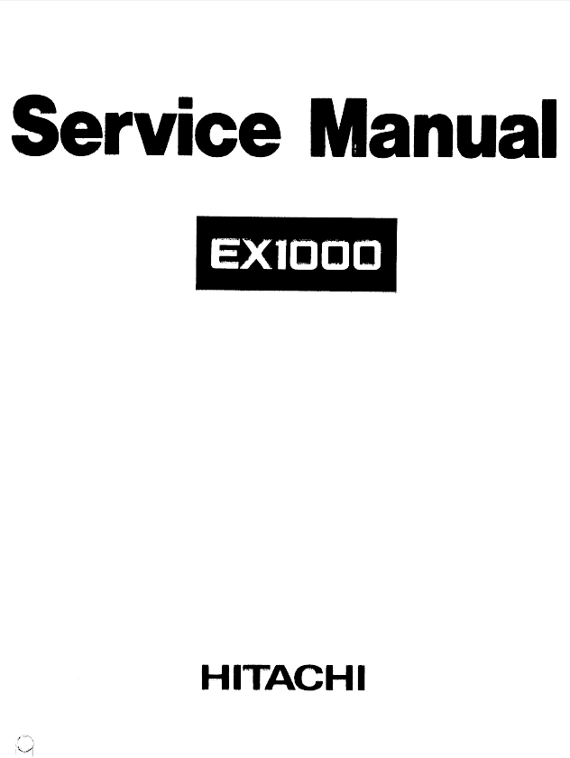 hitachi excavator parts manual pdf