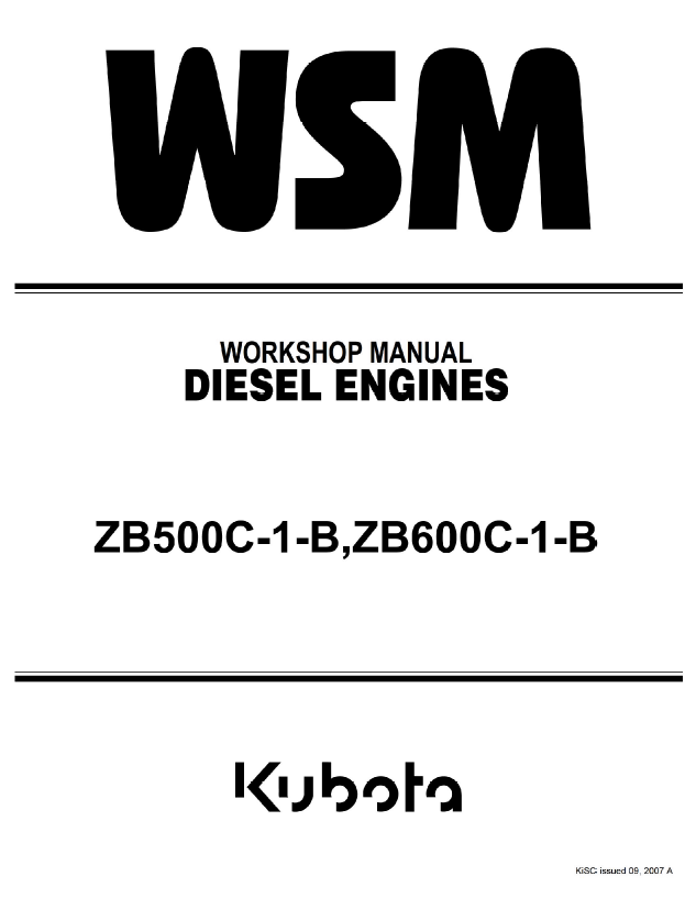 kubota zb500c 1 b zb600c 1 b diesel engines workshop manual pdf kobota b2610 wiring schematic,b \u2022 indy500 co  at suagrazia.org