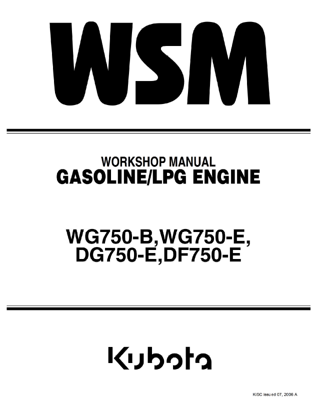 [QMVU_8575]  Kubota WG750-B/E, DF/DG750-E Engines Shop Manual PDF Download | Kubota Df750 Engine Parts Diagram |  | EPCATALOGS