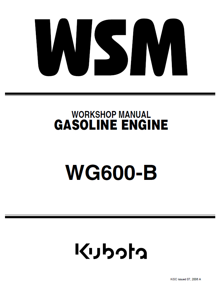 kubota wg600 b gasoline engine workshop manual pdfrepair manual kubota wg600 b gasoline engine workshop manual pdf 9y011 00433