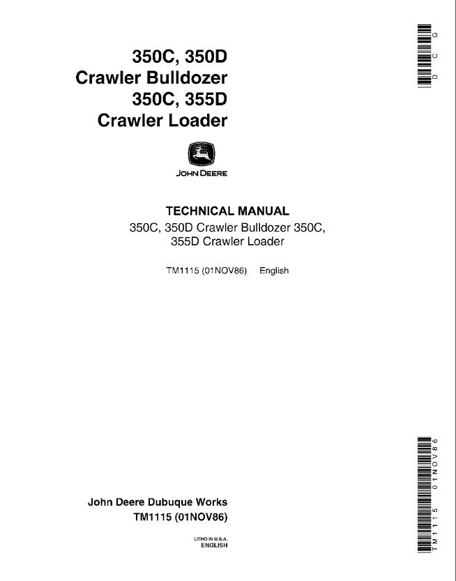... John Deere 350c 350d 355d Crawler Bulldozer Loader Pdf John Deere L120 Electrical Diagram John Deere