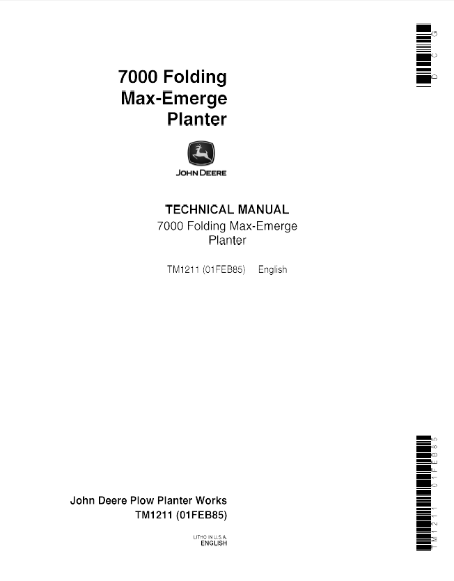 john deere 7000 folding max emerge planter tm 1211 technical manual pdf john deere 7000 planter wiring diagram solenoid on john download john deere 7000 planter wiring harness at bakdesigns.co