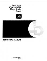 john deere 670a 672a motor grader repair tm 1188 pdf. Black Bedroom Furniture Sets. Home Design Ideas