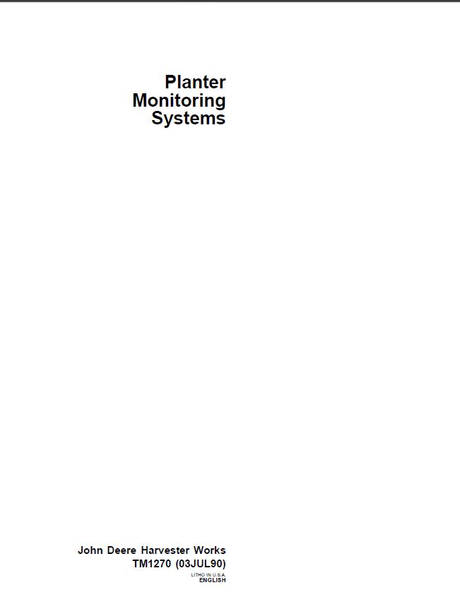 john deere 1240 planter manual pdf