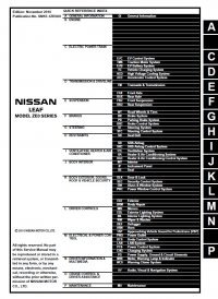 Nissan leaf service manual pdf