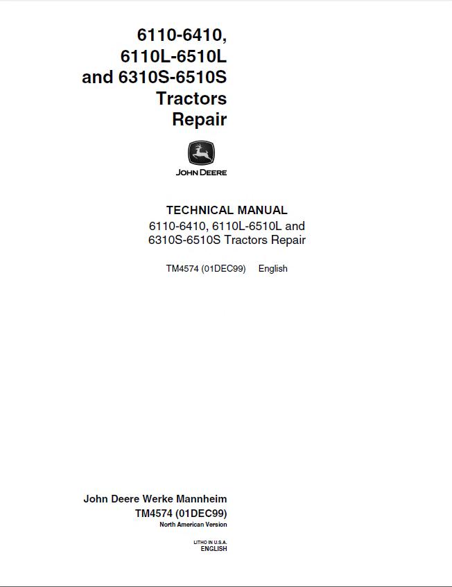 john deere 6110 6410 6110l 6510l 6310s 6510s tractors repair tm4574 pdf john deere 6110 6410 & 6110l 6510l & 6310s 6510s tractors repair john deere 6410 wiring diagram at gsmportal.co