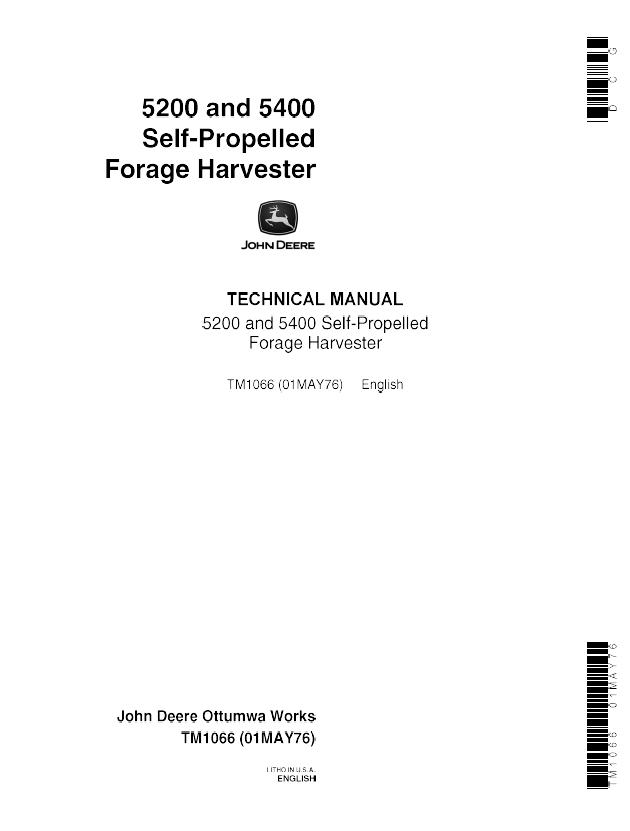 john deere 5200 5400 self propelled forage harvester tm1066 pdf manual john deere 5200 5400 self propelled forage harvester tm1066 john deere 5200 wiring diagram at gsmx.co