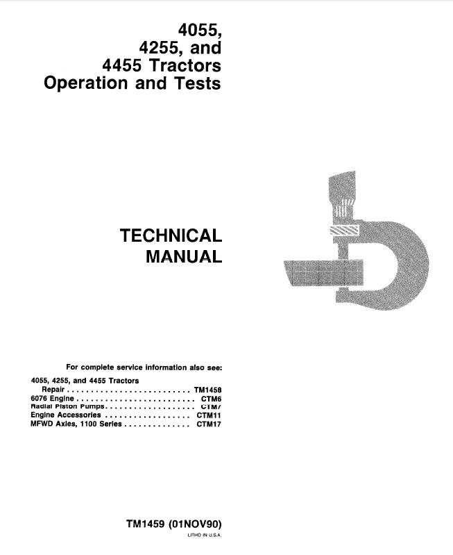 john deere 4055 4255 4455 tractors tm1459 pdf manual rh epcatalogs com John Deere 4020 John Deere 4955