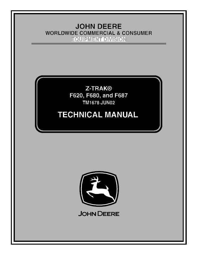 john deere f620 f680 f687 z trak tm1678 technical manual pdf f680 wiring harness diagram wiring diagrams for diy car repairs John Deere M665 Specifications at panicattacktreatment.co