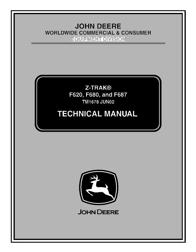 john deere f620 f680 f687 z trak tm1678 technical manual pdf f680 wiring harness diagram wiring diagrams for diy car repairs John Deere M665 Specifications at gsmx.co