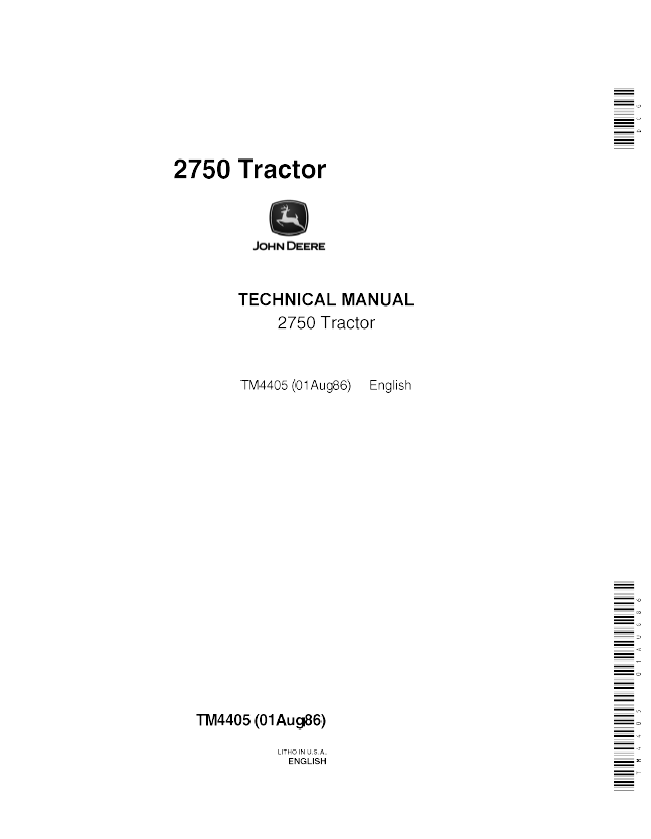 john deere 2750 tractor tm4405 technical manual pdf repair manual john deere 2750 tractor tm4405 technical manual pdf