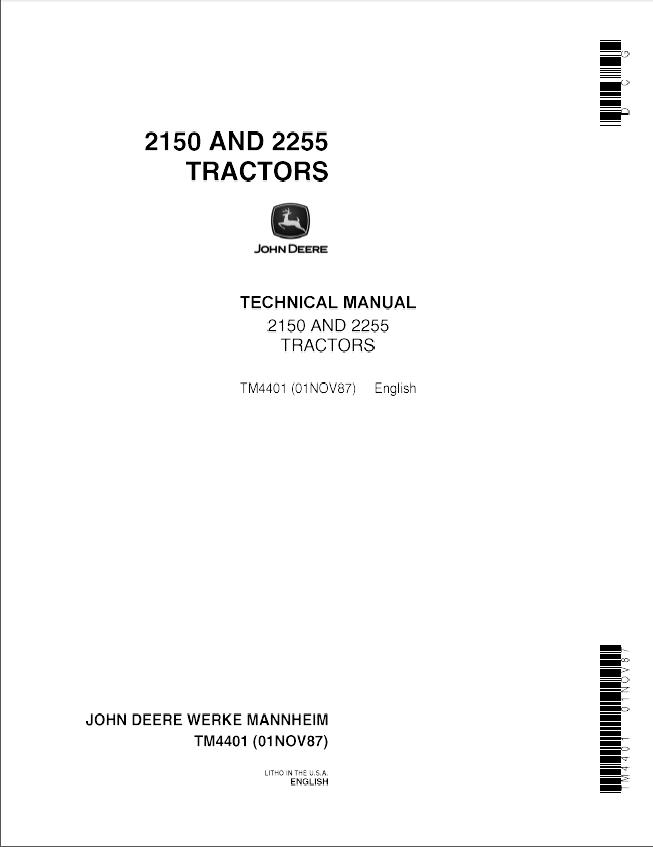 john deere 2150 2255 tractors tm4401 technical manual pdf rh epcatalogs com