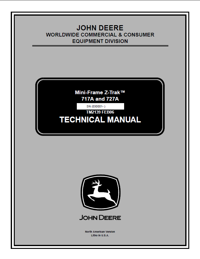 john deere 717a 727a mini frame z trak tm2139 technical manual pdf john deere 717a, 727a mini frame z trak tm2139 technical manual john deere 737 wiring diagram at suagrazia.org