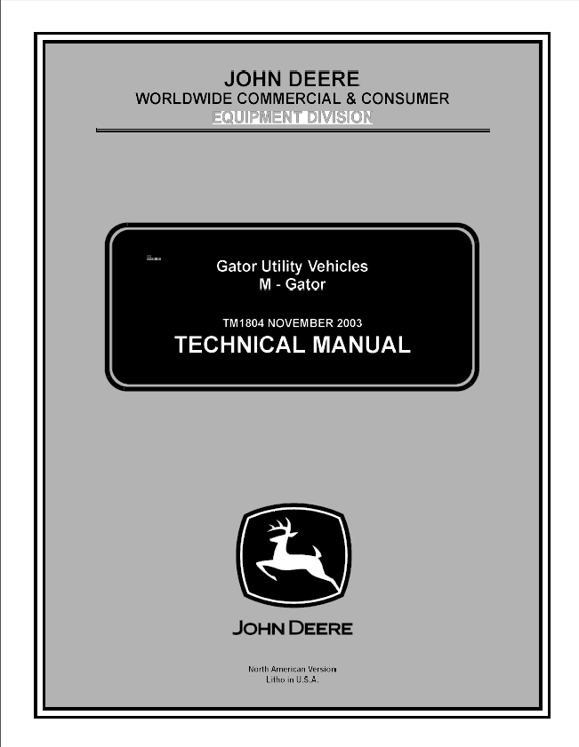 john deere gator utility vehicles m gator tm1804 pdf manual rh epcatalogs com john deere gator 850d wiring diagram 850D Gator Camo