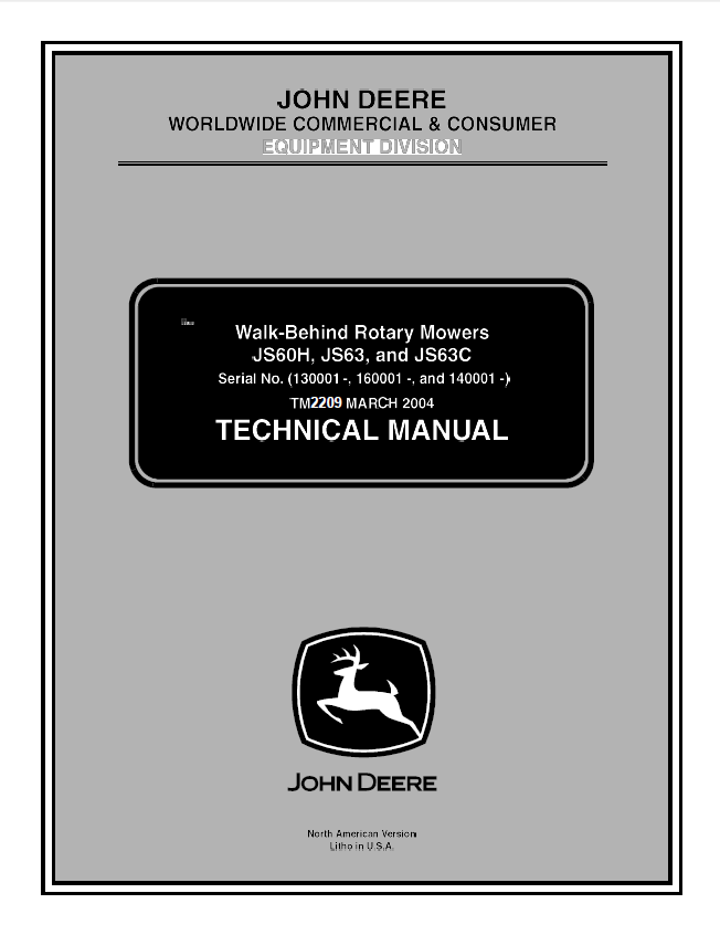 John Deere Js60h Js63 Js63c Walk