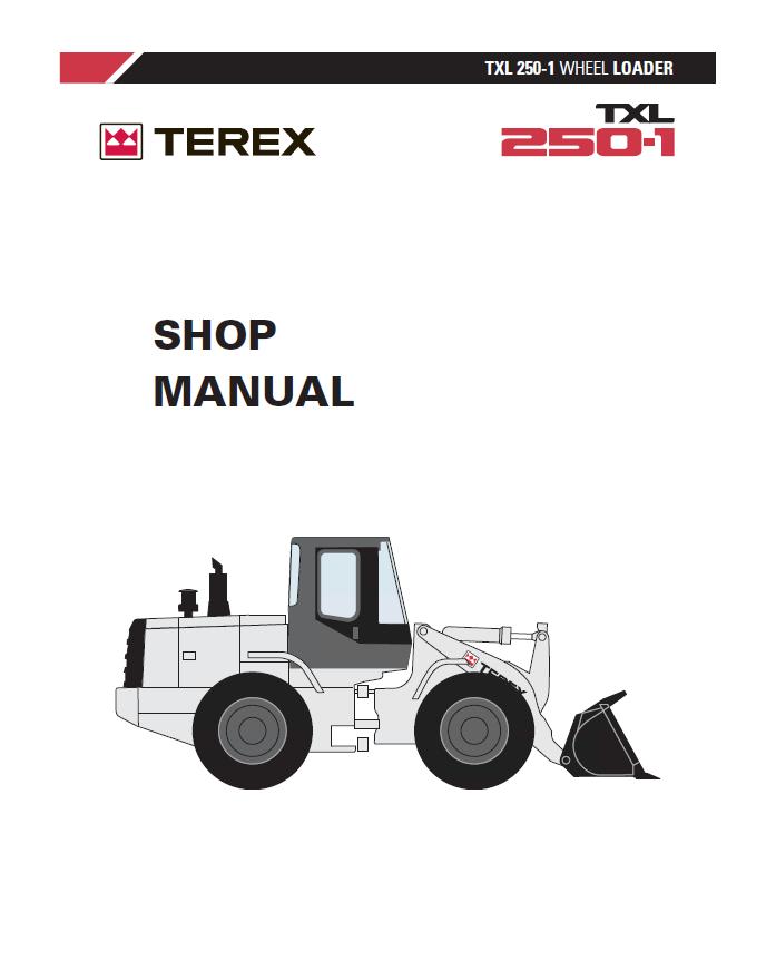 terex txl 250 1 wheel loader shop manual pdf rh epcatalogs com hyundai wheel loader service manual wheel loader manual