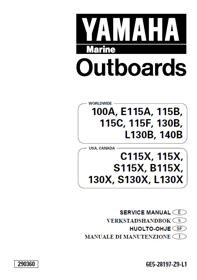 Yamaha marine outboards service manual pdf for Yamaha outboard service