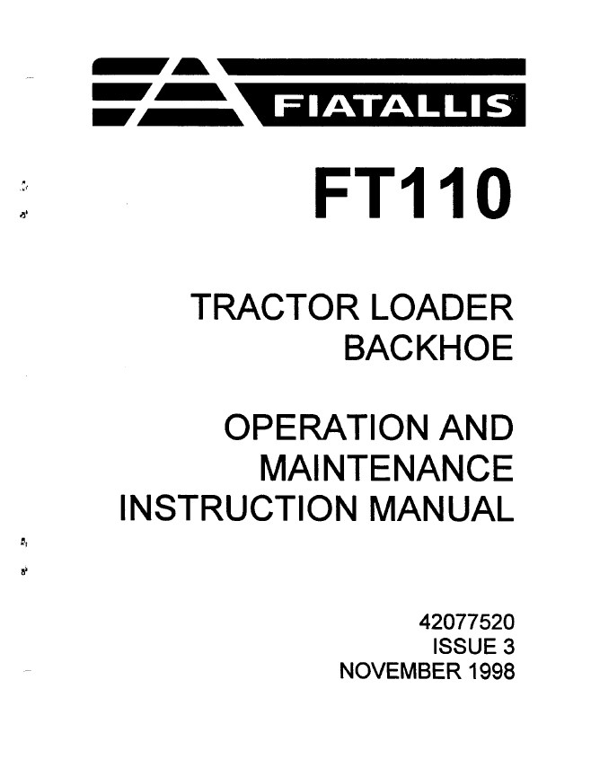 wiring diagram for fiat allis ft110