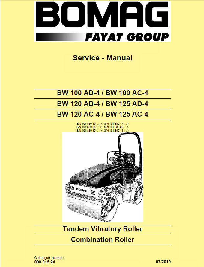 bomag bw100ad 3 wiring diagram bomag bw100/120/125 ad/ac-4 rollers service manual pdf bomag 138ad roller wiring diagram