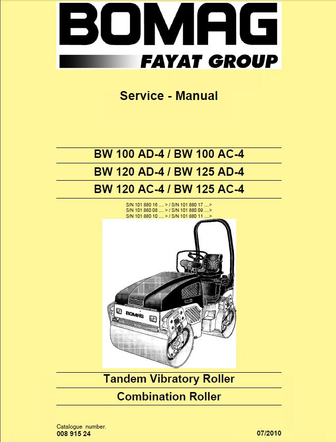 Repair Manual Bomag Bw100 Ad4 Ac4 Bw120 Ad: Bomag Bw100ad 3 Wiring Diagram At Gundyle.co