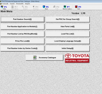spare parts catalog Toyota Industrial Equipment v1.98 Parts Catalog