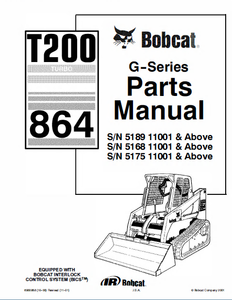bobcat t200 turbo 864 g series parts manual pdf. Black Bedroom Furniture Sets. Home Design Ideas