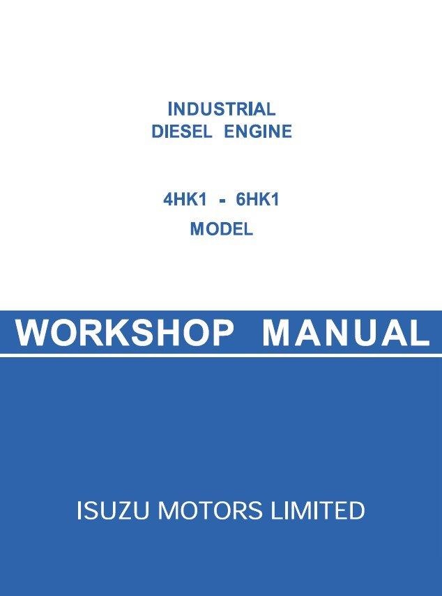 repair manual isuzu 4hk1 6hk1 industrial diesel engine for jcb workshop manual pdf
