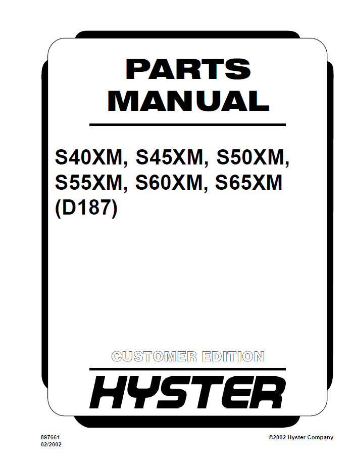 Hyster d187 s404550556065xm parts manual pdf spare parts catalog hyster d187 s40xm s45xm s50xm s55xm s60xm s65xm parts manual pdf cheapraybanclubmaster Choice Image