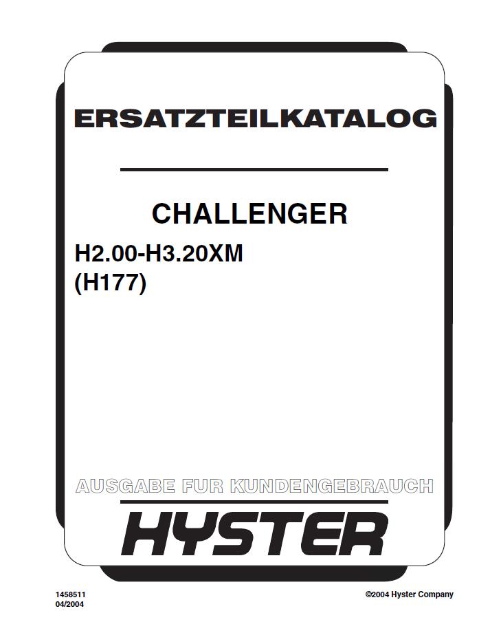 hyster challenger  h177  h2 00