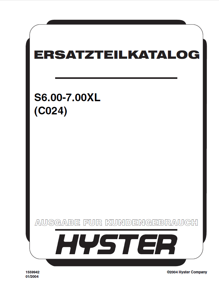hyster c024 s6 00 7 00xl forklift pdf parts manual gr only