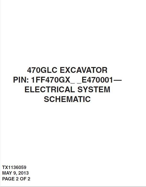 repair manual john deere 470glc excavator electrical system schematic  manual tx1136059 pdf