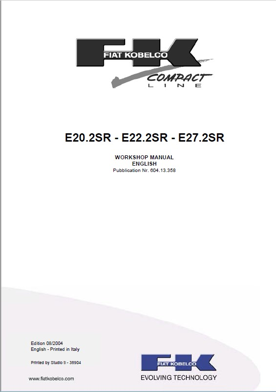 Download Fiat Kobelco E20  22  27 2sr Excavators Workshop