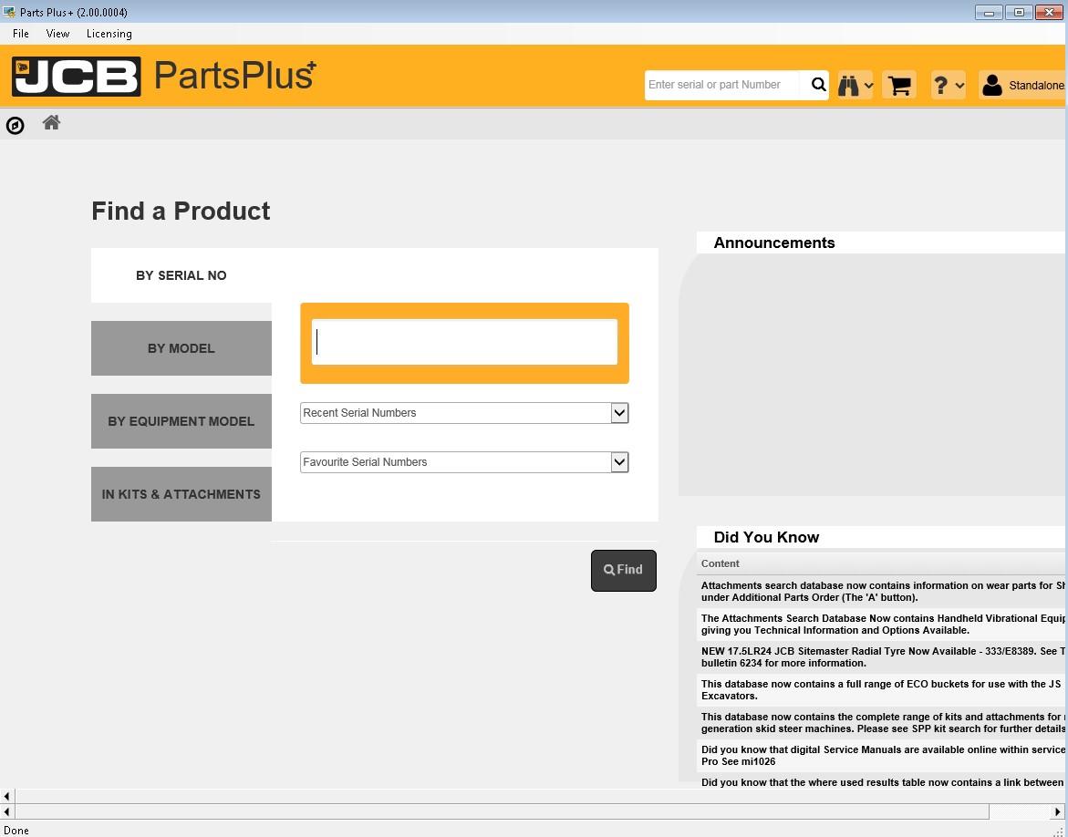 JCB PartsPlus+ Electronic Parts Catalog v2 (2 00 0004) With Service Manuals  2017
