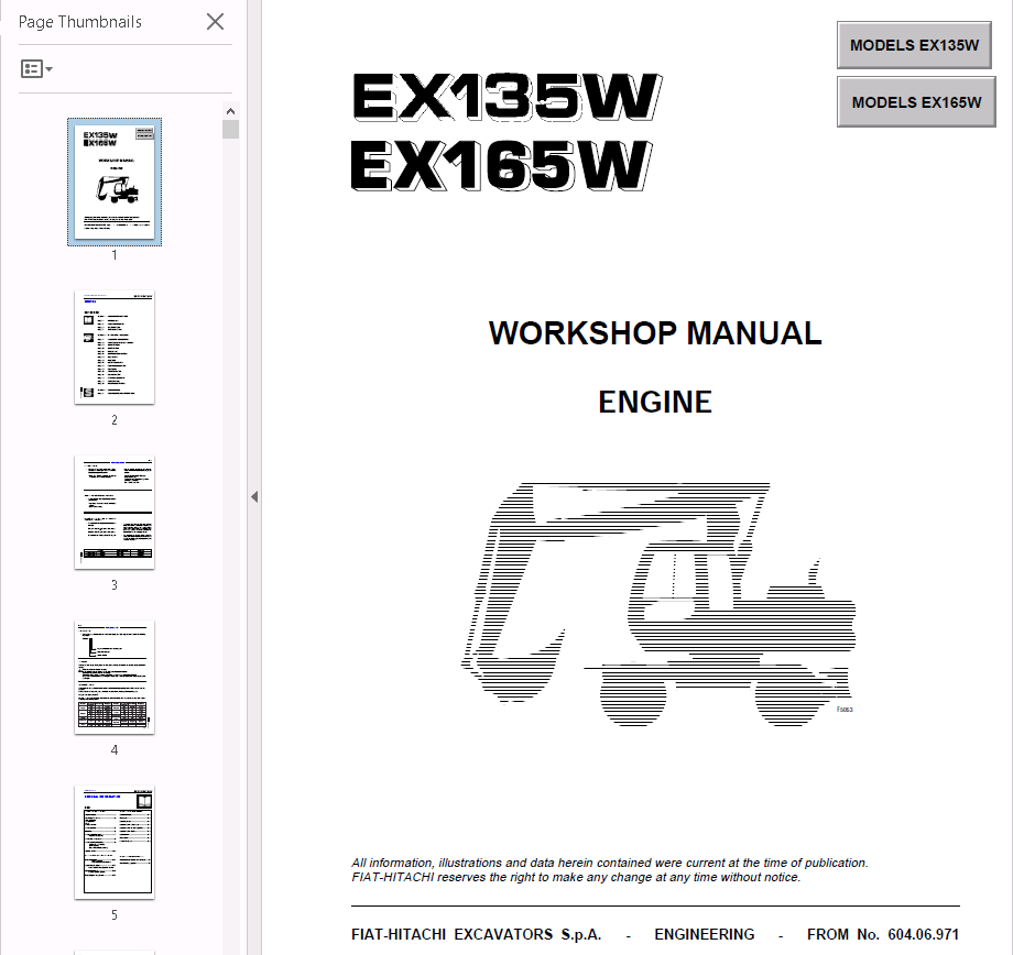 ... Array - fiat hitachi engine ex135 165w pdf workshop manual download rh  epcatalogs com