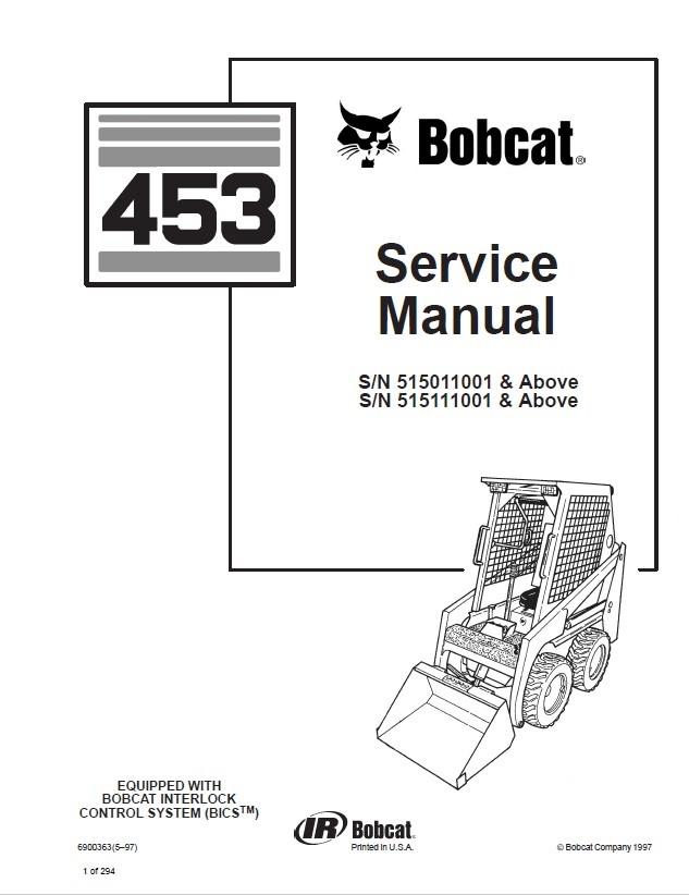 Bobcat Skid Steer Loader Service Manual Pdf on Bobcat Skid Loader Parts Diagrams