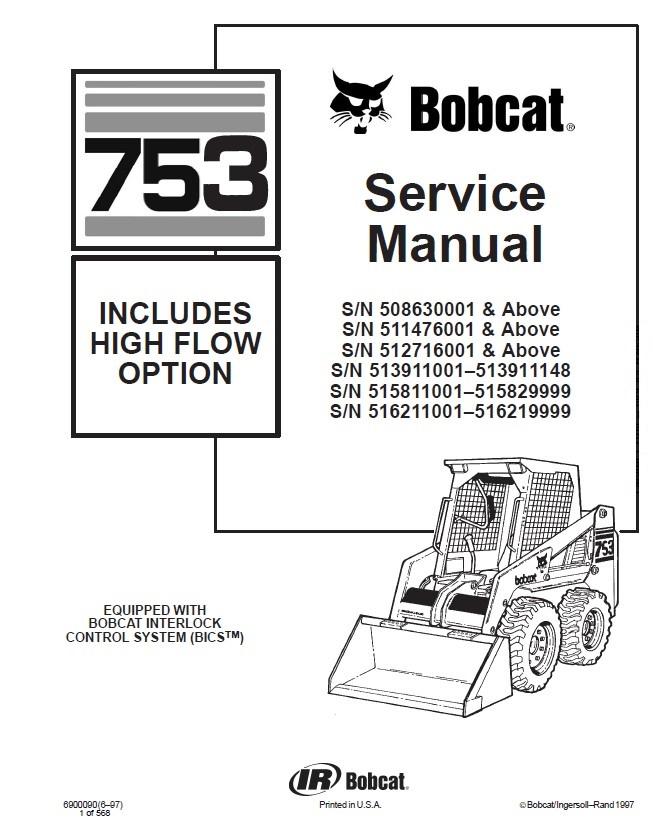 bobcat 753 high flow option skid steer loader service manual pdf bobcat 753 high flow option skid steer loader service manual pdf bobcat 753 wiring diagram free at gsmx.co